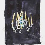 K. Alisauskaite, Light, watercolour on paper, 27x24, 2017